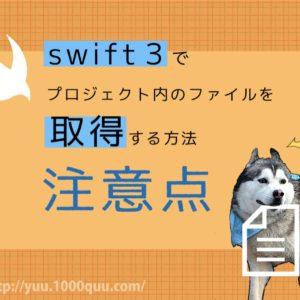 Swiftでプロジェクト内のファイルを取得する際の注意点2つ
